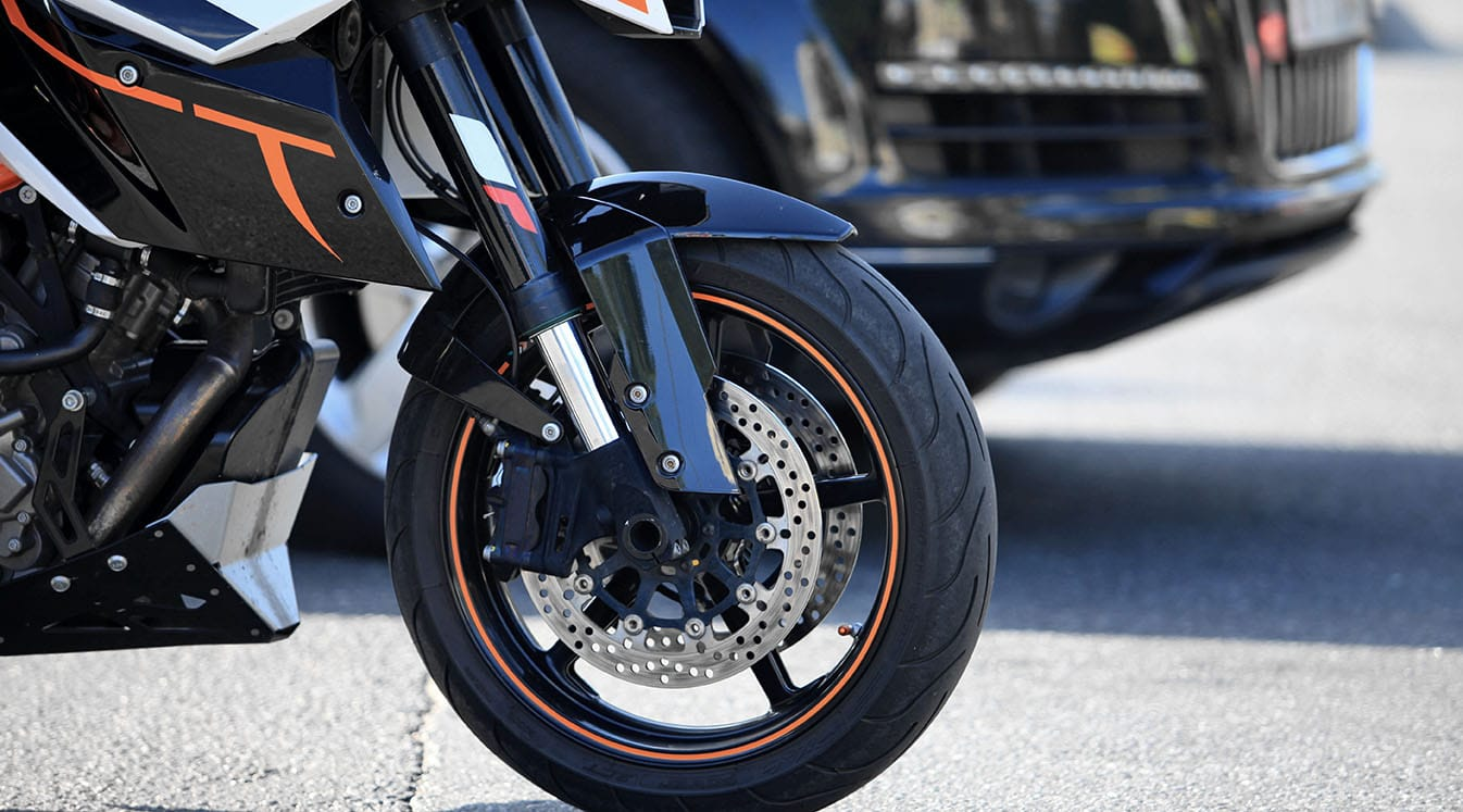 front wheel of motorcycle