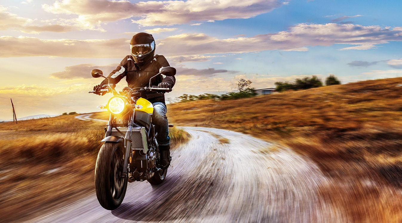 motorbike on the road riding