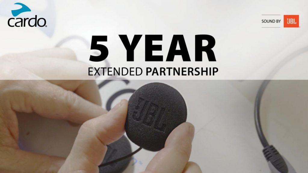 Cardo Systems 和 HARMAN达成为期五年的JBL音效合作